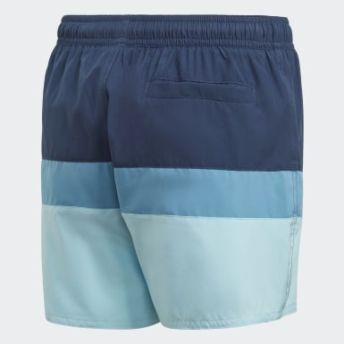Short de bain Colorblock Bleu Garçons Natation