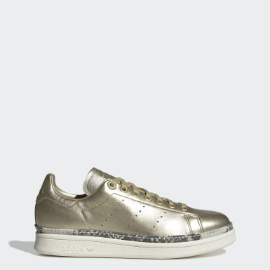 Tenis Stan Smith New Bold Oro Mujer Originals