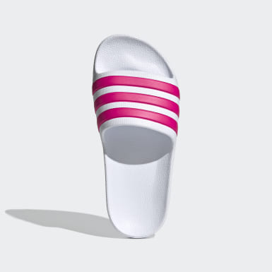 Kids Swimming White Adilette Aqua Slides