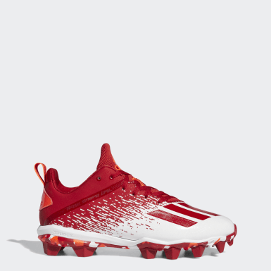Men's Football Red Adizero Spark Molded Cleats