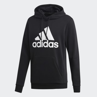 Männer Athletics Must Haves Badge of Sport Hoodie Schwarz