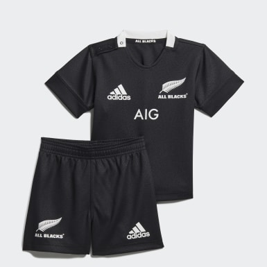 Kids Rugby Black All Blacks Home Infants Kit