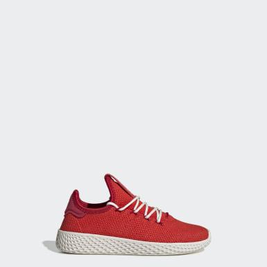 Zapatilla Pharrell Williams Tennis Hu TBIITD Rojo Niño Originals