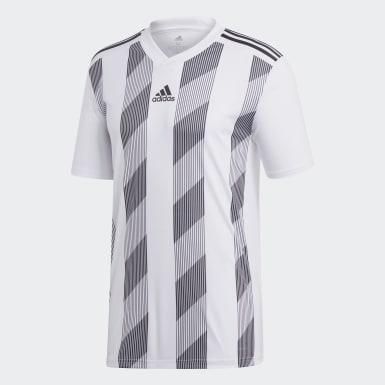 ผู้ชาย ฟุตบอล สีขาว เสื้อฟุตบอล Striped 19