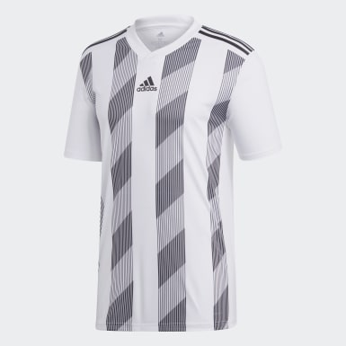 Men Football White Striped 19 Jersey