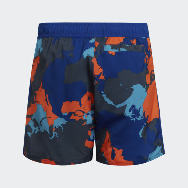 Children Swimming Blue Boys Camo Swim Shorts