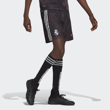 Men Football Black Real Madrid Human Race Shorts