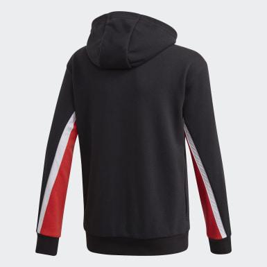 Boys Træning Sort Bold Full-Zip hættetrøje