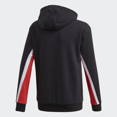 Boys Training Black Bold Full-Zip Hoodie