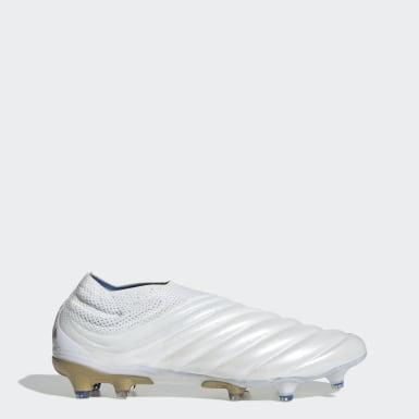 Chaussure Copa 19+ Terrain souple Blanc Football