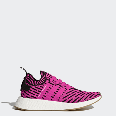 Men Originals Pink NMD_R2 Primeknit Shoes