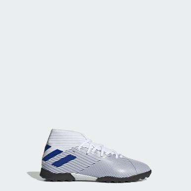 Zapatos de Fútbol Nemeziz 19.3 Pasto Sintético Blanco Niño Fútbol