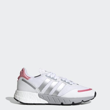 Women Originals White ZX 1K Boost Shoes