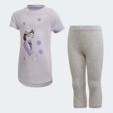 Girls Training Purple Frozen 2 Summer Set