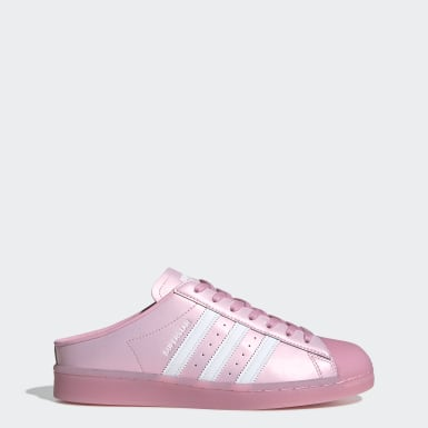 Women Originals Pink Superstar Mule Shoes