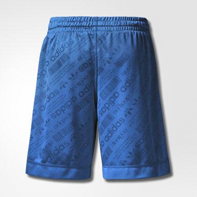 Men Originals Blue AW Soccer Shorts