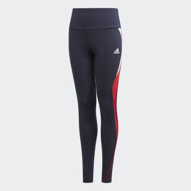 Youth 8-16 Years Training Blue Bold AEROREADY Leggings