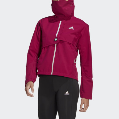 Women Running Burgundy WIND.RDY Jacket