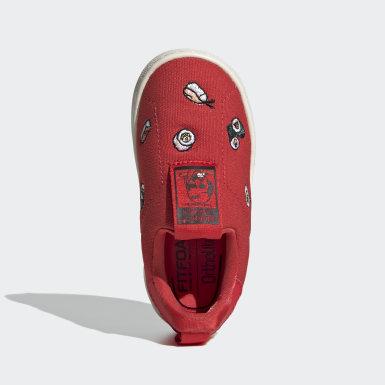 красный Кроссовки-слипоны Stan Smith 360