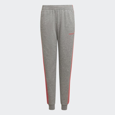 Youth 8-16 Years Athletics Grey Essentials 3-Stripes Joggers