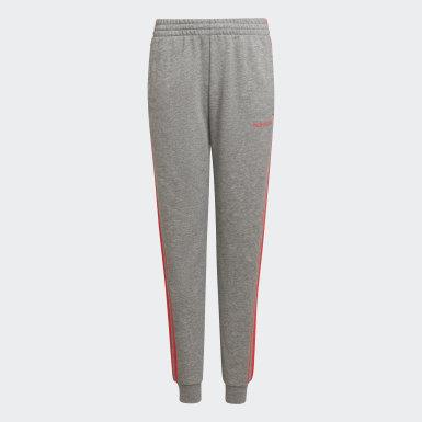 Dívky Athletics šedá Kalhoty Essentials 3-Stripes