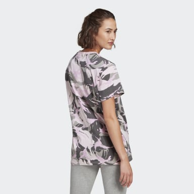 Women's Essentials Grey adidas Essentials Boyfriend Camouflage Tee