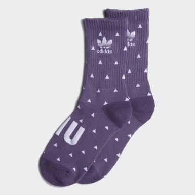 Originals Purple Pharrell Williams Premium Basic Crew Socks (Purple)