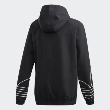 Cortavientos con capucha Outline Negro Niño Originals