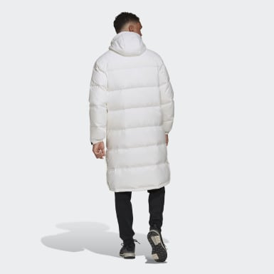 Parka 3-Stripes Long Down Blanc Hommes City Outdoor