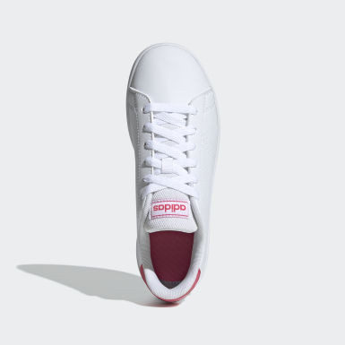 Children Sport Inspired White Advantage Shoes