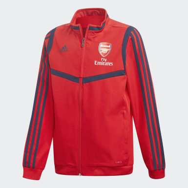 Youth 8-16 Years Football Red Arsenal Presentation Track Top