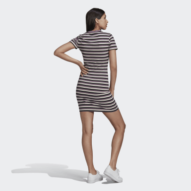 Women Originals Black Striped Dress