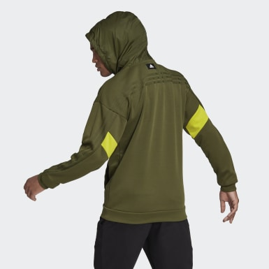 Men's Athletics Green adidas Sportswear Fabric Block Hoodie