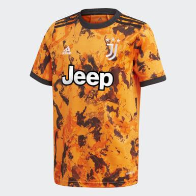 Camisola do Terceiro Equipamento 20/21 da Juventus Laranja Criança Futebol