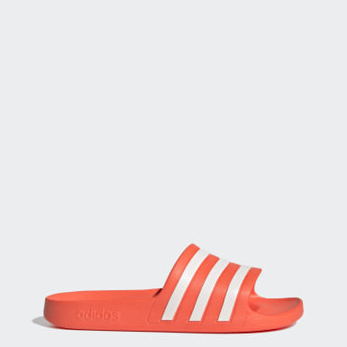 Women Swimming Orange Adilette Aqua Slides