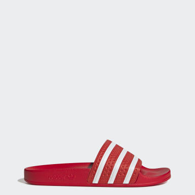 Women Originals Red Adilette Slides