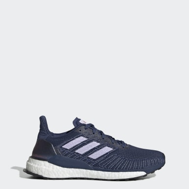 Women Running Blue Solarboost 19 Shoes
