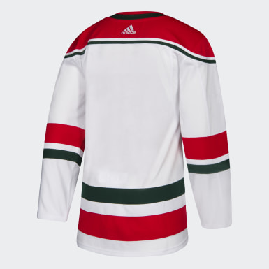 Men Hockey White Devils Retro Authentic Jersey