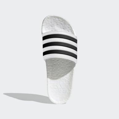 Plavání bílá Pantofle Adilette Boost