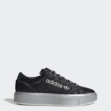 Ženy Originals čierna Tenisky adidas Sleek Super