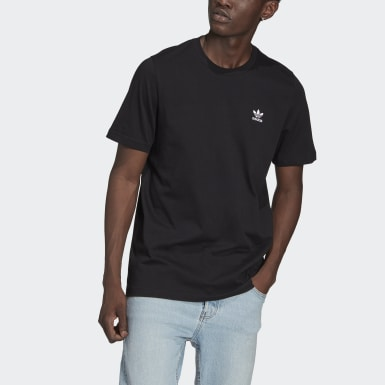 Men Originals Black Adicolor Essentials Trefoil Tee