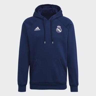 Männer Fußball Real Madrid Travel Hoodie Blau