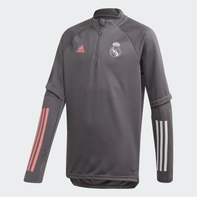 Sudadera entrenamiento Real Madrid Gris Niño Fútbol