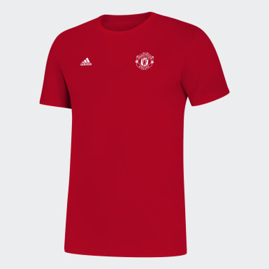 Men Soccer Red Manchester United Tee