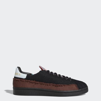 Originals Pharrell Williams Superstar Schuh Schwarz
