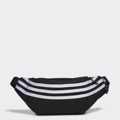 Kids Training Black 3-Stripes Waist Bag
