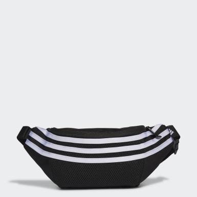 Kids Training Black 3-Stripes Waist Bag