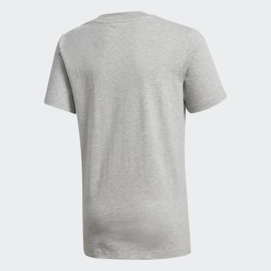 Boys Training Grey Football Tee