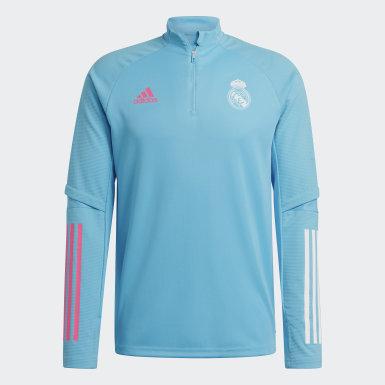Heren Voetbal Turquoise Real Madrid Trainingsshirt