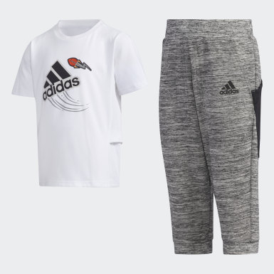 Boys Training White Tee Set